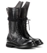 Rick Owens Leather Combat Boots €1.700 mytheresa.com