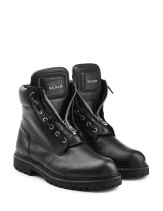 Balmain Leather Zip Front Combat Boots €835 stylebop.com
