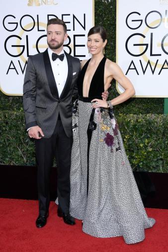 Justin Timberlake e Jessica Biel: Timberlake in Tom Ford e Biel in Elie Saab.