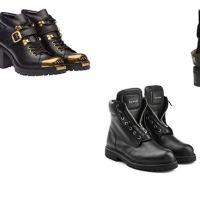 10 modelli di black combat-boots di tendenza