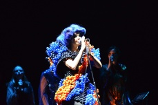 Il balloons gown di Björk al Fuji Rock Festival 2013.