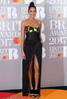 Alesha Dixon in colourful bustier dress