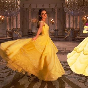 Emma Watson è Belle ne La Bella e la Bestia (2017 vs 1991)