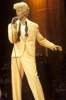 David Bowie durante il Serious Moonlight tour nel 1983.