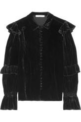 Frame Victorian Velvet Ruffle Blouse €275 nordstrom.com