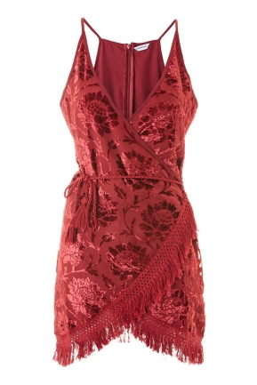 Top Shop Velvet Wrap Camisole Dress by Glamorous 68,00 €