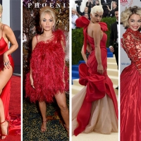 Rita Ora in 10 red passion dress