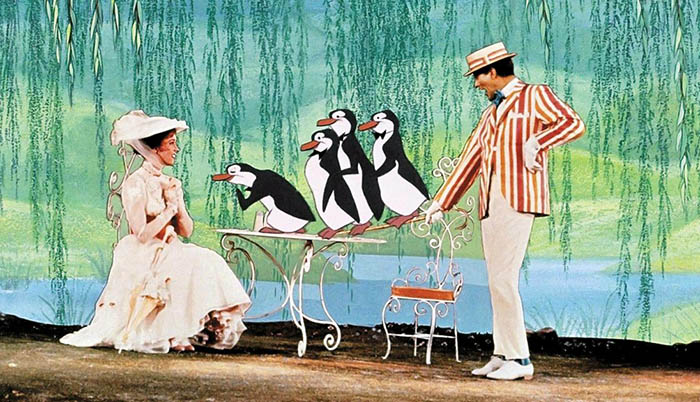 MARY POPPINS, Julie Andrews, Dick Van Dyke, 1964