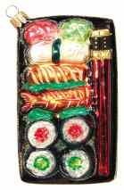'Sushi Plate' Handblown Glass Ornament €32.75