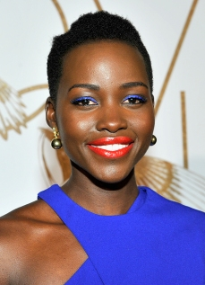 LOS ANGELES, CA - FEBRUARY 26: Actress Lupita Nyong'o, wearing Elena Votsi jewelry, attends LoveGold Cocktail Party honoring Academy Award Nominee Lupita Nyong'o at Chateau Marmont on February 26, 2014 in Los Angeles, California. (Photo by Donato Sardella/Getty Images for LoveGold)