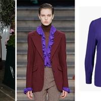 Lo voglio anche io: la camicetta viola di Victoria Beckham alla LFW SS 2020