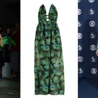 Lo voglio anche io: l'abito verde Versace di J.Lo alla MFW SS 2020