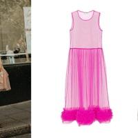 LFW street style, glitter dress + abito tulle fino alla prossima Primavera Estate 2020