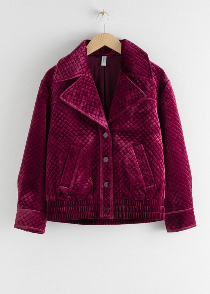 Jackets & Other Stories Quilted Velour Jacket €89 €59