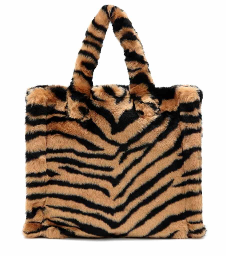 Stand Studio Lolita tiger-print faux fur tote € 175 su mytheresa.com