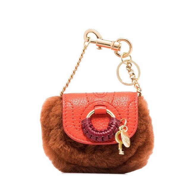 See by Chloé Hana faux-fur detail mini bag 150 € su Farfetch
