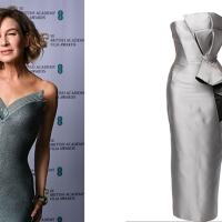 Lo voglio anche io: il silver dress di Renée Zellweger, regina dei BAFTA in Armani